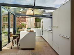 Kitchen Architecture - Home - Glass box extension on thatched cottage