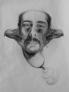 Portrait Drawing by Omid Iraei