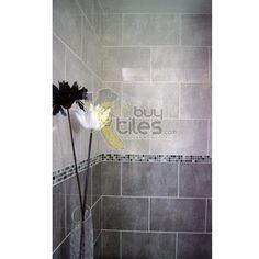 Grey Ceramic Bathroom Tile   ... Dark Grey Tile FON-40035OP - Polished Grey Wall,Bathroom,Kitchen tiles