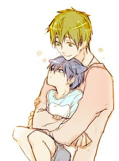 He has little neko ears! He so cute! This anime is free by the way.    -Prudence