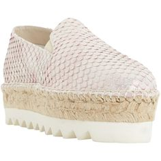 Dune Black Georga Flatform Espadrilles , Pink (2.180 CZK) ❤ liked on Polyvore featuring shoes, sandals, pink, pink flat sandals, flatform sandals, flat espadrilles, leather shoes and flat sandals