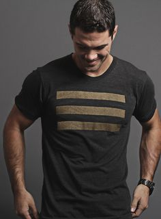 Naval Flag Tri-Black and Gold T-Shirt, from WE ARE ALL SMITH, Los Angeles
