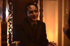 Pin for Later: Gotham: Season 2 Premiere Photos Show Off the New Villains and the Batcave Robin Lord Taylor returns as Oswald Cobblepot, aka Penguin. Gotham Season 2, First Joker, Gotham News, Michael Caine Batman, Dc Comics, 2015 Tv, In The Pale Moonlight, Homicide Detective, American Crime