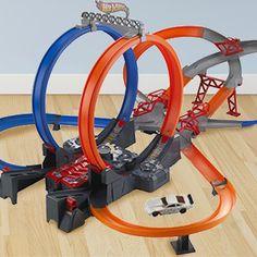 Hot Wheels Mega Loop Mayhem Track Set with Die-Cast Hot Wheels Car – Kids Control the Action!  List Price $65.00 Savings 73% $17.99