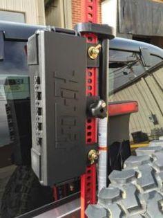 Hi-Lift Jack Gear Storage Box Trail Jack Storage, Black Jeep Mods, Truck Mods, Jeep Tj, Jeep Wrangler Jk, Jeep Truck, Jeep Wrangler Unlimited, Winch Accessories, Nissan, Off Road Camping