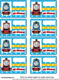 Name Tag Party Decorations Thomas Birthday Parties, Thomas The Train Birthday Party, Trains Birthday Party, Train Party, Baby Birthday Themes, Second Birthday Ideas, Baby First Birthday, Friend Birthday, Thomas And Friends