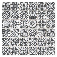 For soap shelf: Royal Pattern Matte Ceramic Mosaic - 12 x 12 - 100507763 Decorative Tile Backsplash, Ceramic Wall Tiles, Kitchen Backsplash, Splashback Tiles, Marble Mosaic, Mosaic Glass, Royal Pattern, Polished Porcelain Tiles, Commercial Flooring