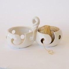 Pawley Studios Double Holy Yarn Bowl - White