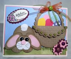 This is a very cute Easter card from Kim's Stampin Stuff blog.