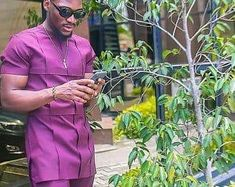 African men's clothing / wedding suit/dashiki / African men's shirt/ vêtement africain/ chemise et p African men's clothing / wedding suit/dashiki / African African Male Suits, African Shirts For Men, African Dresses Men, African Attire For Men, African Clothing For Men, African Wedding Dress, African Wear, African Style, African Lace