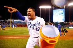 Sal Perez, KC///  WS Game 2 v NYM, Oct 28, 2015  [jamie squire/getty images]