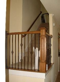 Stair Railings attached on the floor rather than the side