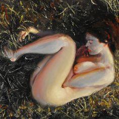 woman among the grass