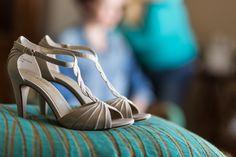 T strap peep toe beige taupe wedding heels