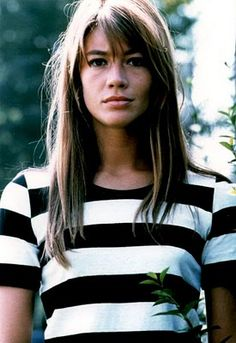 my coworker told me i looked like francoise hardy so i went out and bought some striped shirts.