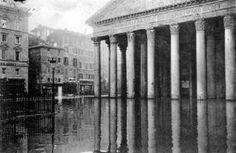 Pantheon sott'acqua 1870. L'origine delle grandi ondate di piena del Tevere: quando Roma rischia di finire sott'acqua per le esondazioni del terzo fiume d'Italia