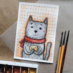 Котик с письмом