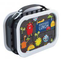 Lunch Box - Monster (Dark Grey) #mamadoo #lunchbox