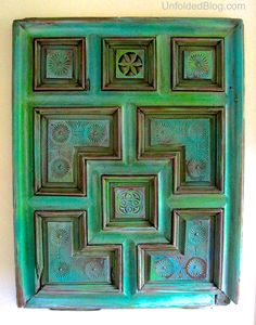 This gorgeous art panel was created in various colors of Chalk Paint® decorative paint by Annie Sloan! Complete with a How-To | By Debbie of the Unfolded Blog
