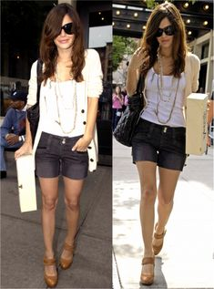 I could never pull those shorts off, but the outfit is cute!