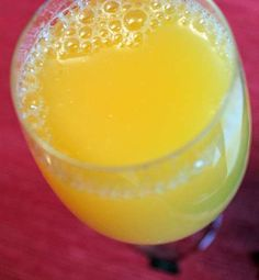 A glass of fresh orange juice, as simple as that ;)