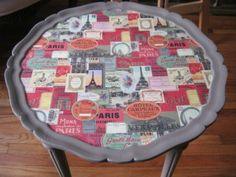 Decoupage.French.Paris.Table