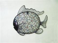 Fish Garden Round Metal Wall Art
