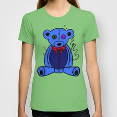 Blue Teddy T-shirt by SeymourArt - $22.00 5 BUCKS OFF AND FEE POSTAGE.. GET ON IT ! LOL