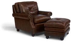 Flexsteel Furniture: Lounge Chairs: SuffolkChair & Ottoman (1741-10-08)