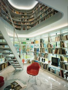 Here's a pretty interesting library idea, although it would probably be hell on the books during the summer.