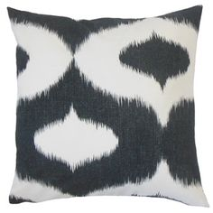 Himani Ikat Feather and Down Filled 18-inch Throw Pillow  $60.19 overstock.com