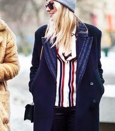 Modern Ways To Wear The Vertical Stripe (You Already Own) via @WhoWhatWear