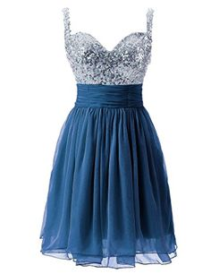 Sarahbridal Women's Tulle Sequin Short Homecoming Dress Prom Gown at Women's Clothing store: Blue Homecoming Dresses, Sequin Prom Dresses, Prom Dresses 2017, Dress Prom, Evening Dresses, Sequin Gown, Formal Dresses, Party Gowns, Prom Party