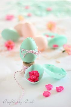 diy chocolate surprise eggs for easter...