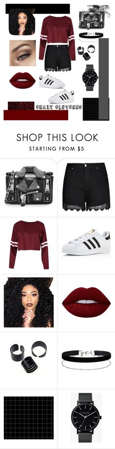 """Crazy Clutches"" by styledbyross on Polyvore featuring moda, Moschino, City Chic, adidas, Kylie Cosmetics, Lime Crime, Miss Selfridge, The Horse y plus size clothing"