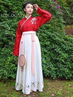 New style Embroider Women Ruqun Hanfu Clothing