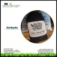 eco Net Bag Set merupakan tas untuk berbelanja sehingga dapat membantu mengurangi penggunaan plastik. 1 tas tersebut terdapat 4 kantong jaring dengan berbagai ukuran di dalamnya.