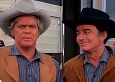 James Drury The Virginian and Doug McClure as Trampas in The Fall Guy The Fall Guy, Doug Mcclure, James Drury, The Virginian, Western Film, Most Favorite, Handsome, Actors, Guys