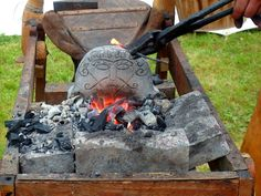 Replica of the Snaptun Forge Stone, found in Denmark, dated to the year Vikings Time, Norse Vikings, Viking Hall, Danish Vikings, Blacksmith Tools, Asatru, Thors Hammer, Norse Mythology, Dark Ages