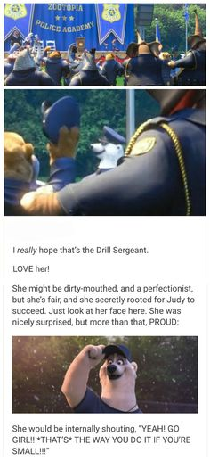 zootopia<<< she didn't get much screen time, but I really liked this character nonetheless :)>> yay drill sergeant Disney Memes, Disney Cartoons, Disney Facts, Disney And More, Disney Love, Disney Stuff, Arte Disney, Disney Magic, Disney And Dreamworks