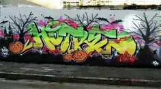 HOTRE @hotre_ Picture from our site  madstylers.com Everyone can upload his stuff on site we will publish best photos on instagram. _______________________ #madstylers #graffiti #graff  #style #colorful #graffporn #stylewriting #summer #sprayart #graffitiart