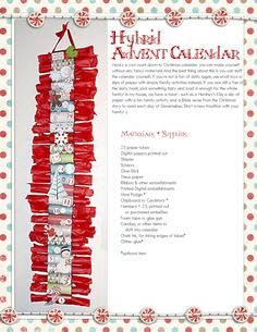Advent or Countdown to Christmas craft!!