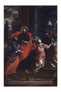 San Paolo accompagna Santa Tecla nella casa di Trifena, 1675-76, Giovanno Bartolomeo Caravoglia -  Collezione Intesa Sanpaolo - Olio su tela #Fondazione1563