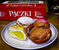 """Oh Ya.....Paczkis (""""Poonch-kie"""") from Hamtramck.  Hamtramck is a Polish community outside of Detroit."""