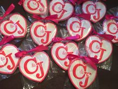 Wedding party favors - See more of our cookies at http://www.ctcookietreats.com
