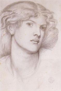 Fanny Cornforth (sketch and study) - ca 1865 - Dante Gabriel Rossetti