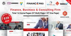Finance Pro v1.1  Finance Business & Consulting WordPress Theme  Blogger Template