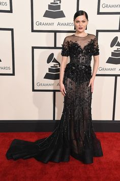 Jessie J in Ralph & Russo at The 57th Annual GRAMMY Awards