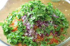 Agrega el cilantro