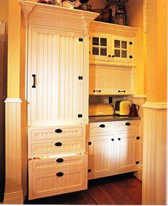hidden fridge - love this